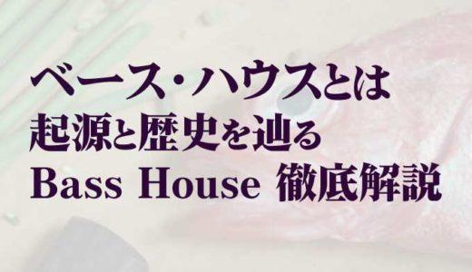 【Bass House】ベースハウスとは。起源と歴史を辿る【徹底解説】