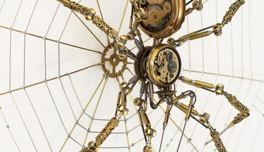 アンティーク時計で作った『スチームパンク・クモ』が凄いと話題