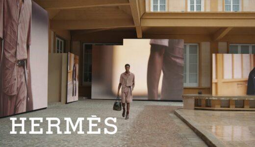 エルメス、<2022年春夏メンズコレクション>ショー映像公開|BGMにDry CleaningなどMIX