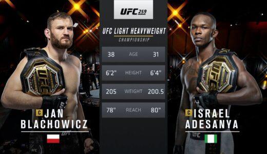 UFCライトヘビー級の王座をかけた『ヤン・ブラホビッチ vs イスラエル・アデサンヤ』の動画が公開